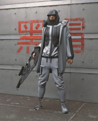 Cyberpunk Asian Man2E